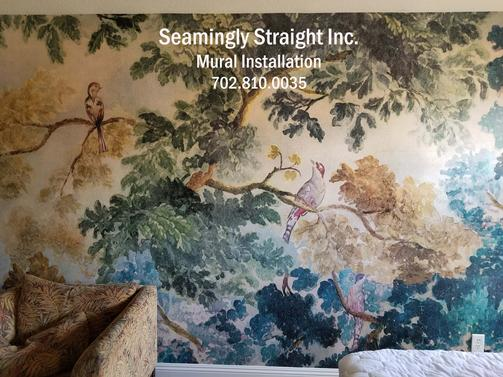 Las Vegas Mural, Wallpaper, Wall covering, Installation ,Hanger, Installer, contractor,2017