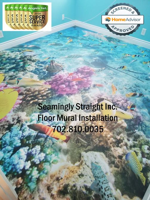 3D floor mural installer Las Vegas Nevada, mural installation 2017